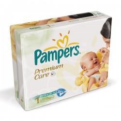 Premium Care - 297 Couches de Pampers taille 1 sur Couches Poupon