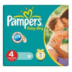Baby Dry - 44 Couches de Pampers taille 4 sur Couches Poupon