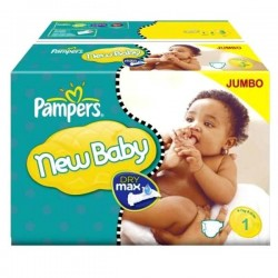 New Baby Dry - 172 Couches Pampers taille 1 sur Couches Poupon