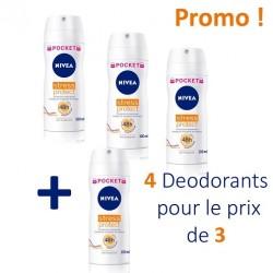 Stress Protect - 4 Deodorants Nivea - 4 au prix de 3 taille Pocket sur Couches Poupon