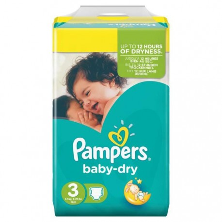 Baby Dry - 34 Couches Pampers taille 3 sur Couches Poupon