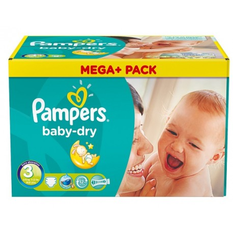 Baby Dry - 272 Couches de Pampers taille 3 sur Couches Poupon