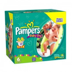 Baby Dry - 198 Couches Pampers taille 6