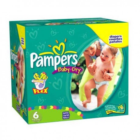 Baby Dry - 198 Couches Pampers taille 6 sur Couches Poupon