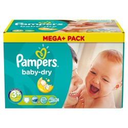 Baby Dry - 328 Couches de Pampers taille 3+