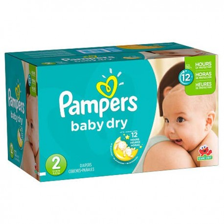 Baby Dry - 252 Couches Pampers taille 2 sur Couches Poupon