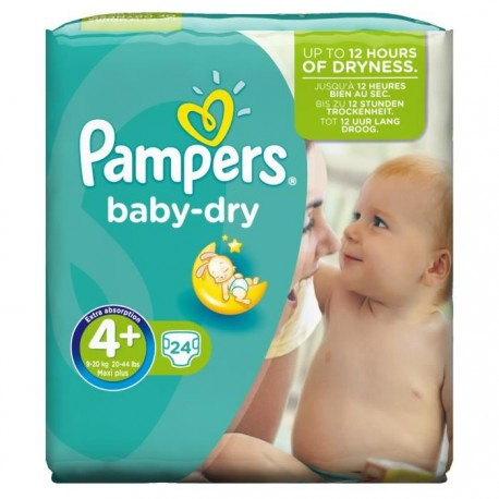 24 Couches Pampers Baby Dry Taille 4 En Solde Sur Couches Poupon