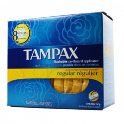 Compak - 80 Tampons de Tampax taille regular avec applicateur sur Couches Poupon