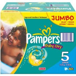 Baby Dry - 360 Couches Pampers taille 5 sur Couches Poupon