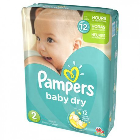 Baby Dry - 42 Couches de Pampers taille 2 sur Couches Poupon