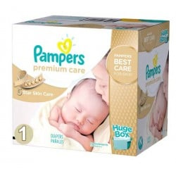 Premium Care - 176 Couches Pampers taille 1 sur Couches Poupon