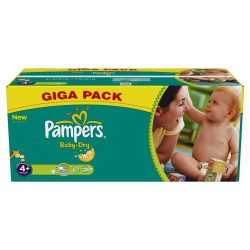 Baby Dry - 336 Couches Pampers taille 4+