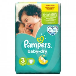 Baby Dry - 68 Couches de Pampers taille 3 sur Couches Poupon
