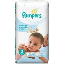 New Baby Sensitive - 60 Couches de Pampers taille 2