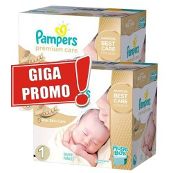Premium Care - 1012 Couches Pampers taille 1 sur Couches Poupon
