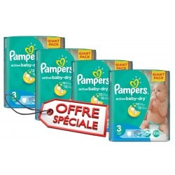 Active Baby Dry - 660 Couches de Pampers taille 3