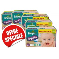 Active Fit - 615 Couches Pampers taille 3