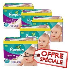 Active Fit - 560 Couches Pampers taille 3+ sur Couches Poupon