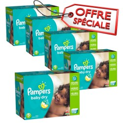 Baby Dry - 864 Couches Pampers taille 5 sur Couches Poupon