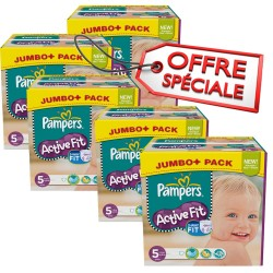 Active Fit - 736 Couches de Pampers taille 5 sur Couches Poupon