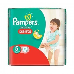 Baby Dry Pants - 21 Couches Pampers taille 5 sur Couches Poupon