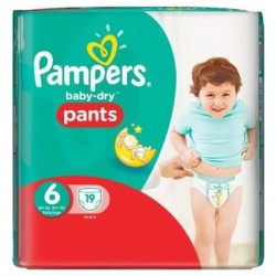 Baby Dry Pants - 19 Couches Pampers taille 6 sur Couches Poupon