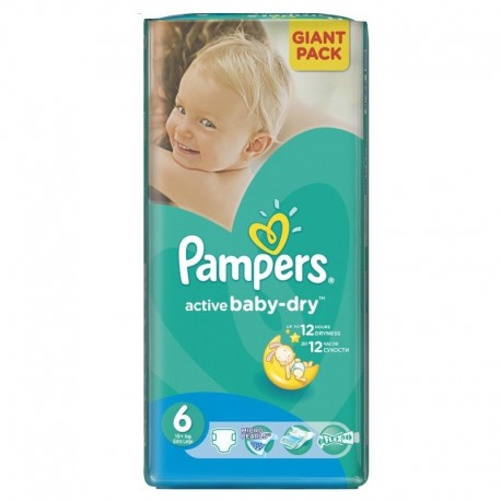 Active Baby Dry - 42 Couches Pampers taille 6 sur Couches Poupon