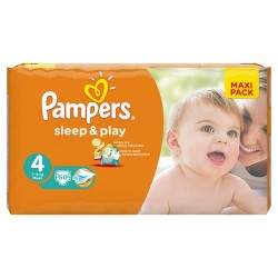 Sleep & Play - 50 Couches de Pampers taille 4 sur Couches Poupon
