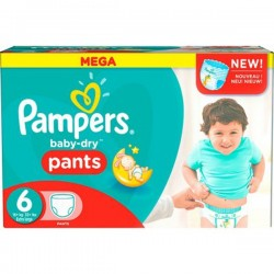 Baby Dry Pants - 190 Couches Pampers taille 6 sur Couches Poupon