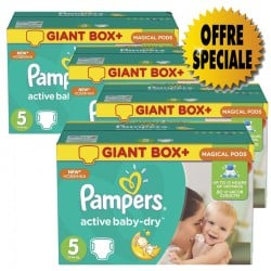 Active Baby Dry - 522 Couches de Pampers taille 5