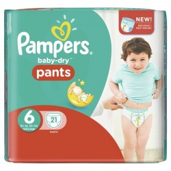 Baby Dry Pants - 21 Couches Pampers 6 sur Couches Poupon