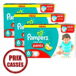 Baby Dry Pants - 105 Couches Pampers 6