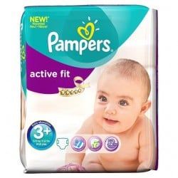 Active Fit - 70 Couches de Pampers taille 3+
