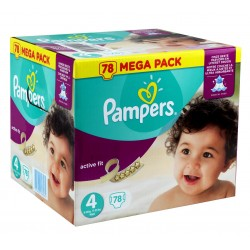Active Fit - 54 Couches Pampers taille 4 sur Couches Poupon
