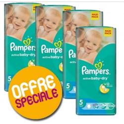 Active Baby Dry - 232 Couches Pampers 5