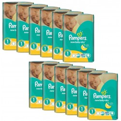 New Baby Dry - 860 Couches Pampers taille 1