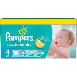 Active Baby Dry - 132 Couches Pampers taille 4 sur Couches Poupon