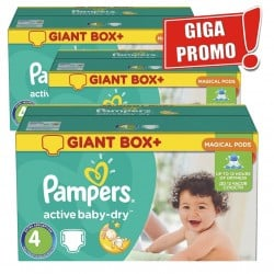 Active Baby Dry - 396 Couches Pampers taille 4