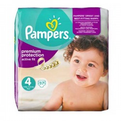 Active Fit - 37 Couches Pampers taille 4 sur Couches Poupon