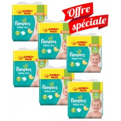 Pampers - Maxi Giga Pack 224 Couches Baby Dry taille 7 sur Couches Poupon