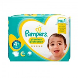 Pampers - Pack 62 Couches Premium Protection - New Baby taille 4+