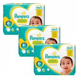 Pampers - Mega Pack 186 Couches Premium Protection - New Baby taille 4+