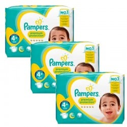 Pampers - Mega Pack 186 Couches Premium Protection - New Baby taille 4+ sur Couches Poupon
