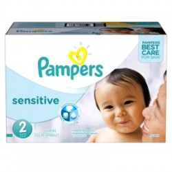 Pampers - Maxi Giga Pack 360 Couches New Baby Sensitive taille 2 sur Couches Poupon