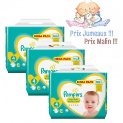 Pampers - Giga Pack Jumeaux 468 Couches New Baby - Premium Protection taille 4