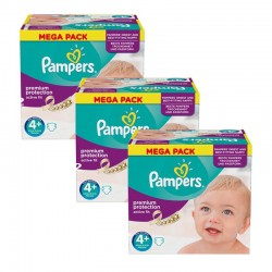 Pampers - Maxi Giga Pack 186 Couches Active Fit taille 4+