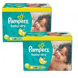 Pampers - Maxi Giga Pack 175 Couches Baby Dry taille 5+ sur Couches Poupon