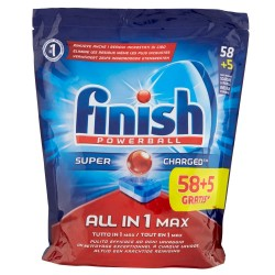 Finish Tabs 63 Powerball Super Charged Special Graisses All in 1 Max (1027 gr) sur Couches Poupon