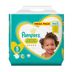 Pampers - Pack 35 Couches New Baby taille 5 sur Couches Poupon