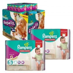 Pampers - Maxi Pack 630 Couches Active Fit - Pants taille 5 sur Couches Poupon